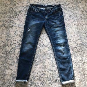 silver suki mid super skinny distressed jeans
